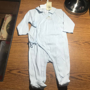 Ralph Lauren blue footed sleeper 3-6 months NWT